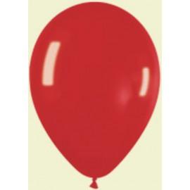 "Globos redondos 5"" Premium Crystal Rojo Sempertex"