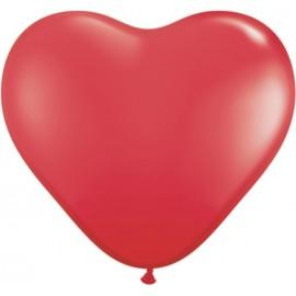 """Globos de 6"""" (15Cm) corazones Rojo Qualatex"""