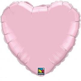 """Globos de foil Corazones de 18"""" Perlado Rosa"""