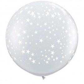 Globos de 3FT Estrellas Diamante claro