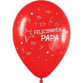 """Globos de 12"""" Felicidades Papa"""