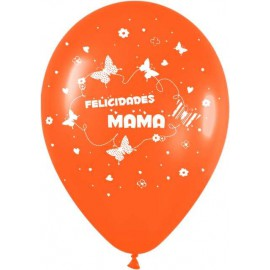 "Globos de 12"" Felicidades Mama"
