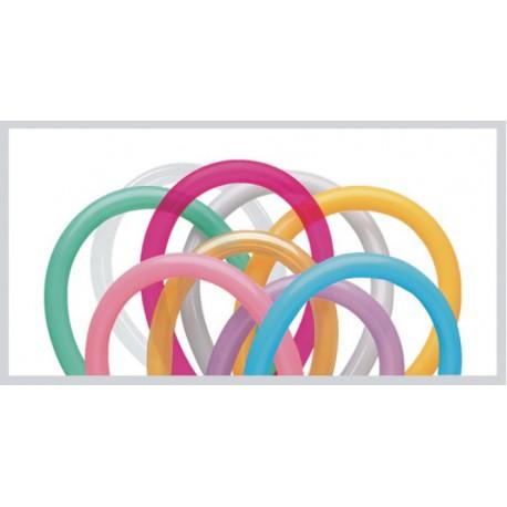 Globos de modelar 260S colores solidos surtidos