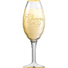 """Globos de foil de 14"""" x 38"""" (35Cm x 97Cm) Copa Champagne Anagram"""