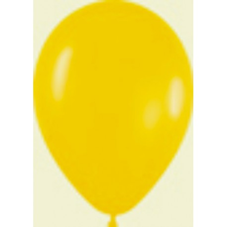 "Globos de 5"" Fashion solido amarillo sempertex"