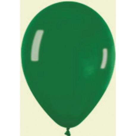 "Globos redondos 5"" Premium Crystal Verde Sempertex"