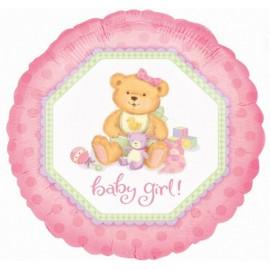 """Globos de foil de 18"""" Baby Girl Osita"""