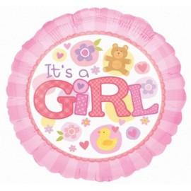 "Globos de foil de 18"" Girl Patito"