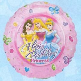 "Globos de foil de 9"" birthday Princesas"