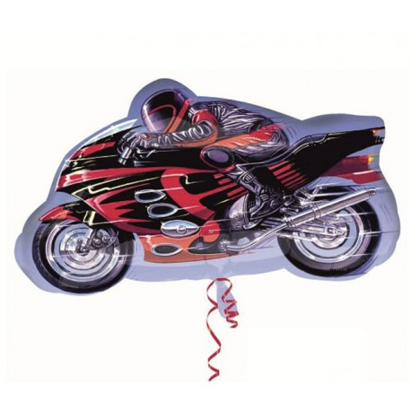 Globos de foil Forma de 65cm x 41cm Moto