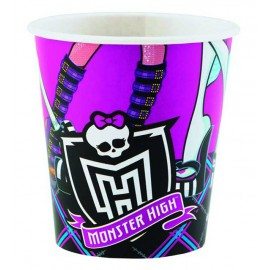 Platos redondos 18 cm Monster High 8Uni