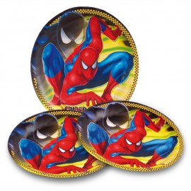 Platos redondos 23 cm Spiderman 8Uni