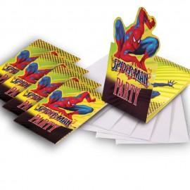 Invitaciones temática Spiderman 6uni