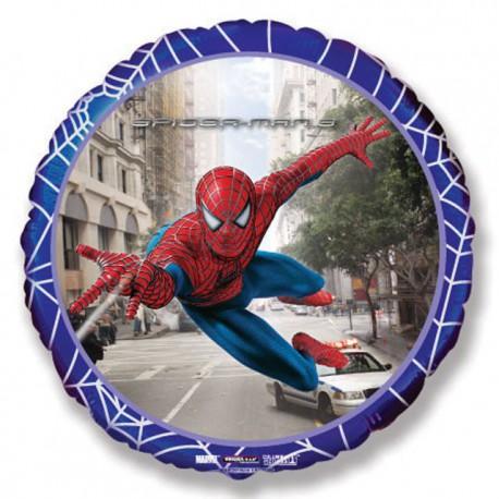 "Globos de Foil Redondos de 18"" (46Cm) Spiderman 3 Azul"