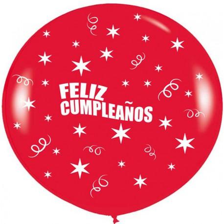 Globos Gigantes de 3Ft Feliz cumpleaños Rojo