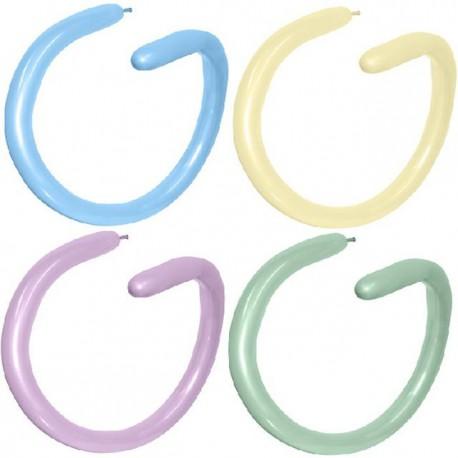 Globos de modelar 260S colores pastel surtidos