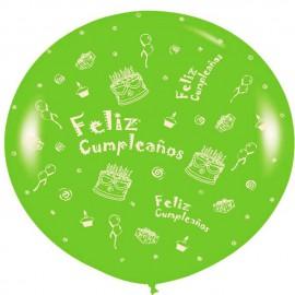 Globos Gigantes de 3Ft Feliz cumpleaños 2 Verde