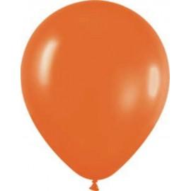 "Globos redondos de 12"" Naranja Metálico"