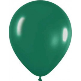 "Globos redondos de 12"" Verde Selva Metálico"