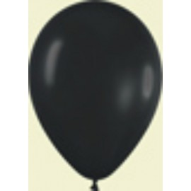 "Globos de 9"" (22,8cm) Fashion solido Negro"