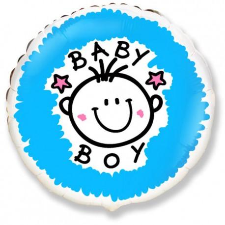 "Globos de Foil Redondos de 18"" (46Cm) Baby Boy"