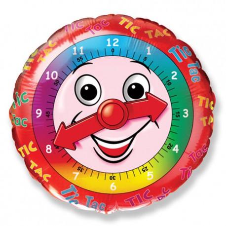 """Globos de Foil Redondos de 18"""" (46Cm) Reloj"""
