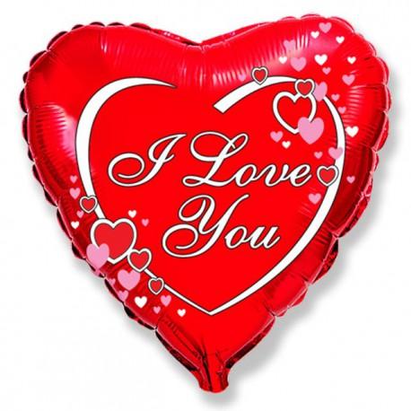 """Globos de Foil Corazón de 18"""" (46Cm) I LOVE YOU"""