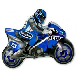 """Globos de foil de 27"""" X 31"""" (68cm x 80cm) Moto Azul"""