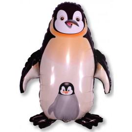 """Globos de foil Forma de 39"""" x 33"""" (98Cm x 83Cm) Pinguino Negro"""