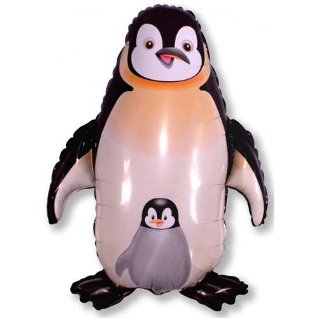 Globos de foil Forma de 98Cm x 83Cm Pingüino Negro