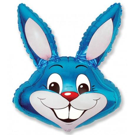 Globos de foil supershape de 90cm x 58cm Conejo Azul