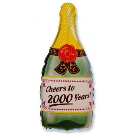 """Globos de foil de 33"""" X 17"""" (83cm x 43cm) Celebración Champagne"""