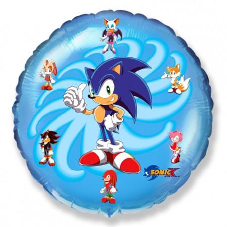 """Globos de Foil Redondos de 9"""" (23Cm) Sonic X"""