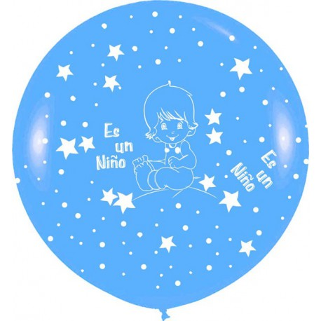 Globos Gigantes de 3Ft Es un niño 2 Azul