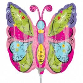 Globos de foil Mariposa Multicolor mini