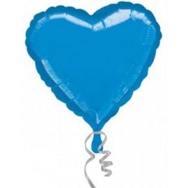 "Globos de foil corazones 30"" (73cm x 70cm) Azul"