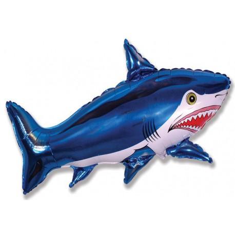 Globos de foil Minishape de 28cm x 40cm Tiburón