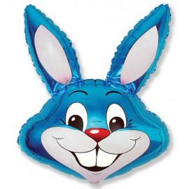 Globos de foil Minishape de 41cm x 24cm Conejo Azul