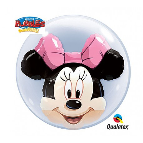 "Globos de foil de 24"" Bubbles doble Minnie"