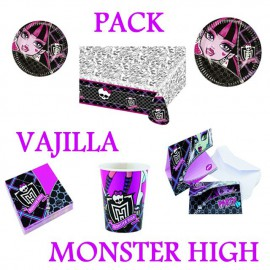 Pack Vajillas Monster High