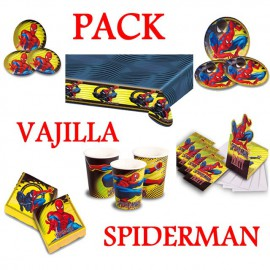 Pack Vajilla Spiderman