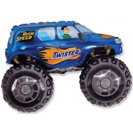 """Globos de foil de 27"""" X 38"""" (68cm x 96cm) Big Wheel Azul"""