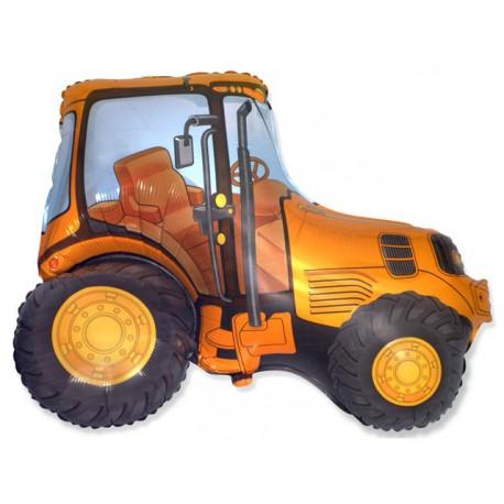 """Globos de foil de 29"""" X 37"""" (73cm x 95cm) Tractor Amarillo Anaranjado"""