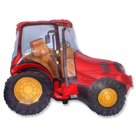 "Globos foil de 29"" X 37"" (73cm x 95cm) Tractor Rojo"