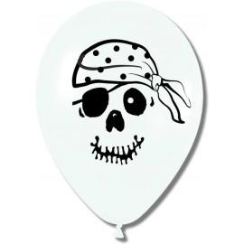 "Globos de 12"" Calavera pirata"