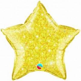 """Globos de foil Estrella de 20"""" Crystalgraphic Oro"""