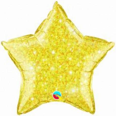 """Globos de foil Estrella de 20"""" Crystalgraphic qualatex Oro"""