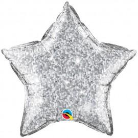 """Globos de foil Estrella de 20"""" Crystalgraphic Plata"""