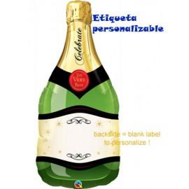 """Globos de foil de 39"""" (99Cm) Botella Champagne"""