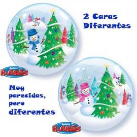 "Globos de 22"" Bubbles Nieve"